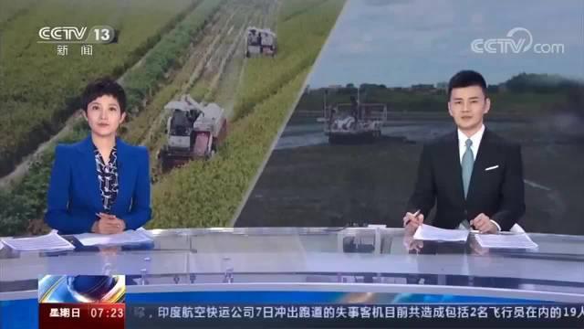 央视新闻频道&财经频道报道好心湖畔田园综合体:机械化新技术助