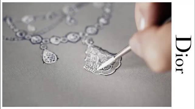 Dior 项链的的制作过程,纯手工打造,叹为观止~