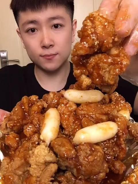 爱吃的林梵:炸鸡年糕