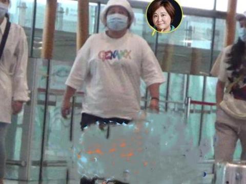 38岁贾玲胖到没有腰,身材圆润连走路都吃力,网友:像相扑选手