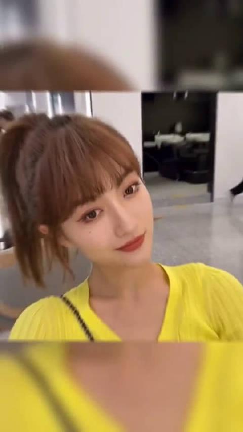 想尝试刘海的女孩不妨可以试试韩式减龄刘海设计