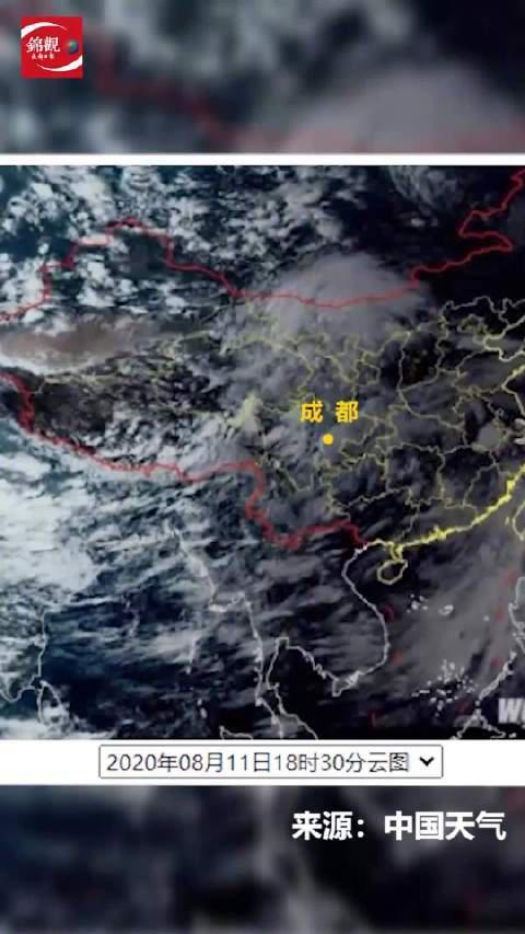 实时卫星云图直击成都强降雨过程