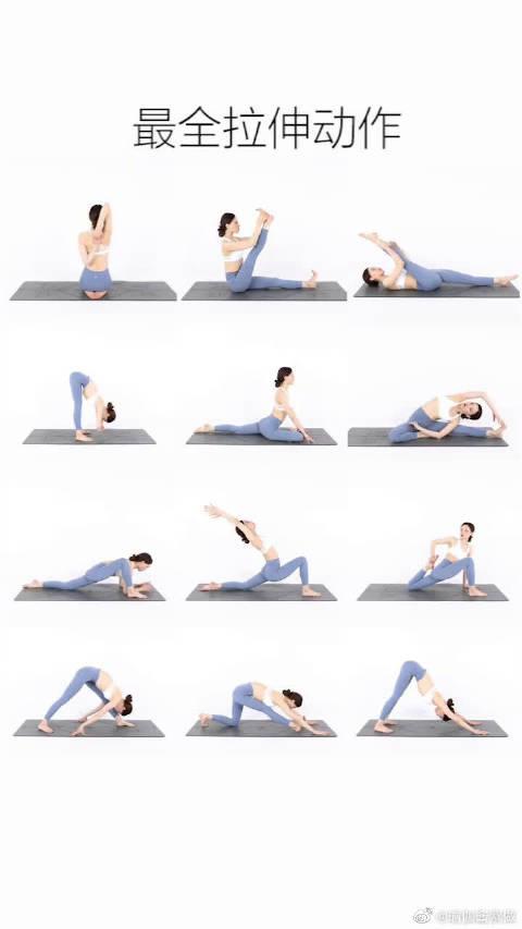 筋长一寸,延寿十年,全套瑜伽拉伸动作建议收藏