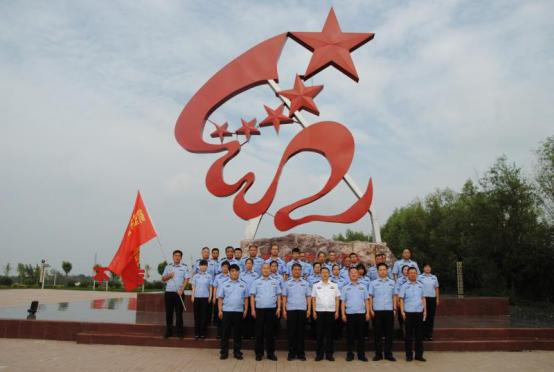 河南省公安厅第九驻点指导组参观鹤壁市红色教育基地