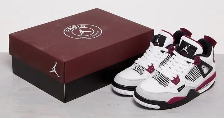 近赏 Paris Saint-Germain x Air Jordan 4 最新联乘鞋款