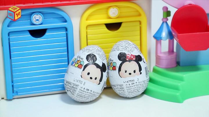 迪士尼惊喜奇趣蛋分享得到小熊维尼和唐老鸭