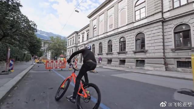 国外牛人极限自行车运动,超高技术!