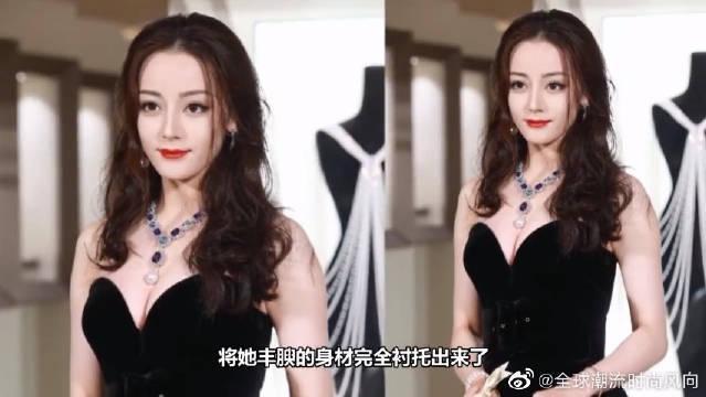 迪丽热巴出席活动,穿抹胸裙优雅如黑天鹅,美女大家就要一起看!