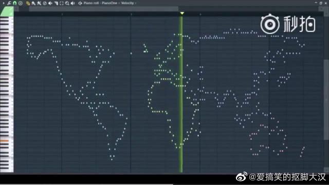 日推网友Agさん根据世界地图的轮廓做了个乐谱……