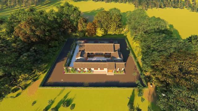 22×29米带商铺四合院,有菜园有庭院才是惬意农村生活