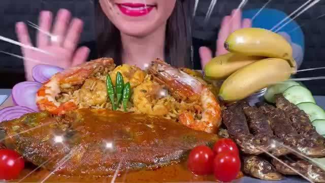 Stella摇摇姐吃播/烤鱼、虾🦐