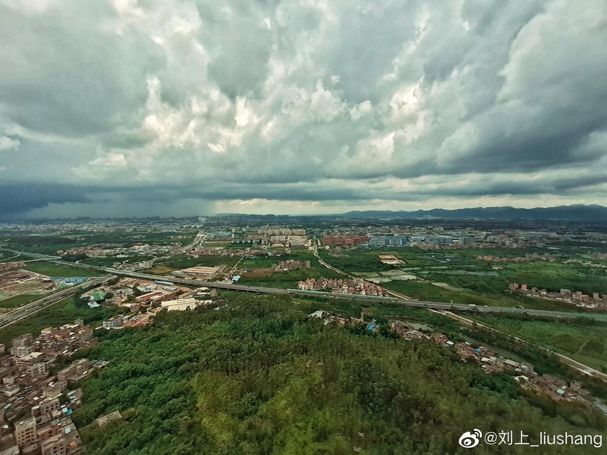 到达广州,云层漂亮