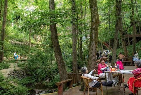 """这里被誉为""""中原最美瀑布群"""",夏季畅游更有高山冷泉西瓜免费吃"""