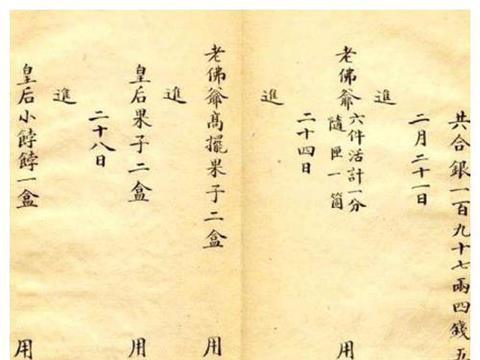 光绪帝妃子用楷书记的账单,字体让现代人膜拜,比书法家更胜一筹