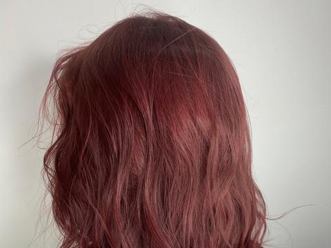 显白又时尚的粉红橙棕色,用这样的配方染,大方又好看