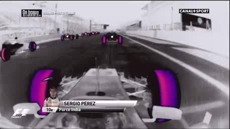 热能摄影机下看到的F1赛车