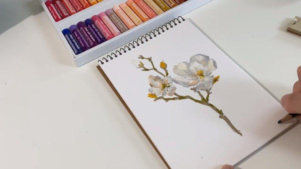 油画棒花卉 고지티브gozitive
