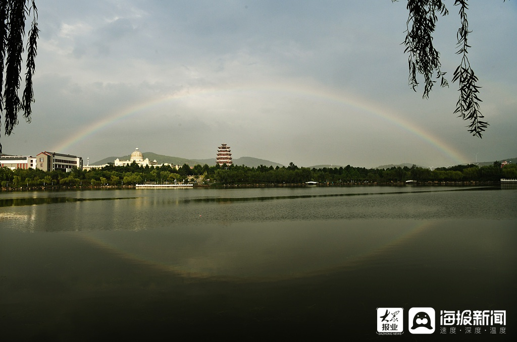 美不胜收!枣庄雨后出现彩虹