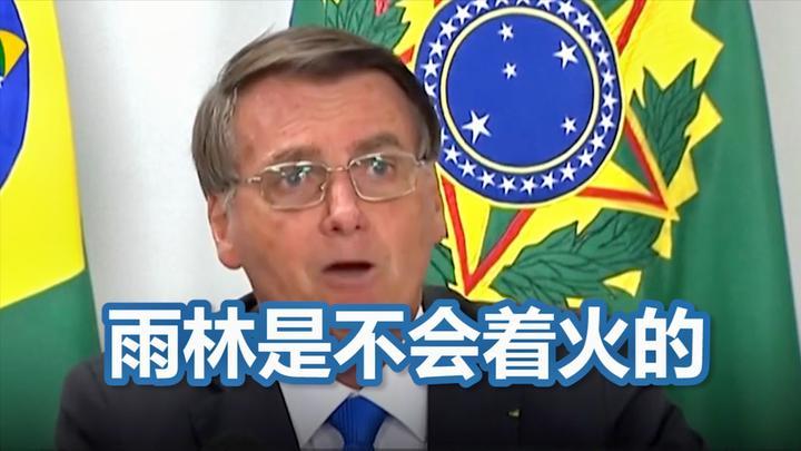 否认火情严重 巴西总统语出惊人:亚马逊是雨林 雨林不会起火的!