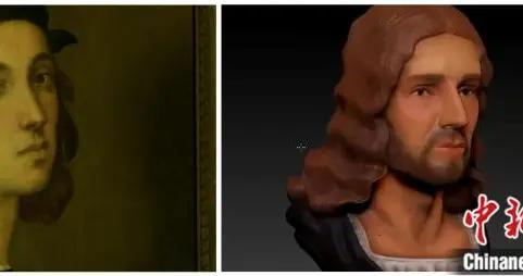 """拉斐尔自画像给自己""""整鼻""""?3D技术还原真实样貌(图)"""