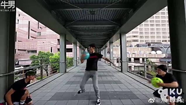 台湾花式篮球牛人炫技大作,动作行云流水