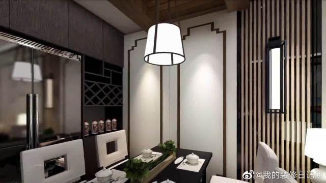 一居室做新中式,效果漂亮极了!