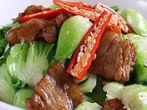 青菜五花肉,枸杞木耳炒山药,清炒荷兰豆,香葱土豆的做法