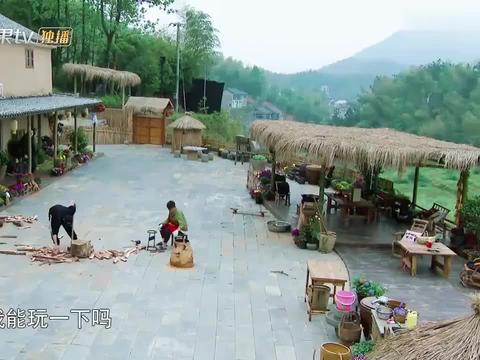 大华取快递,黄磊:肯定没干好事!画面一转大华在村民家蹭饭吃!