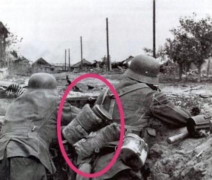 二战德军步兵背的大罐子是什么?那可是保命的东西