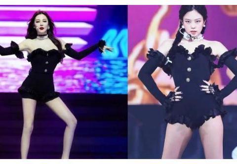 张雨绮与韩国女艺人撞衫,更胜一筹,根本看不出是生过孩子的人