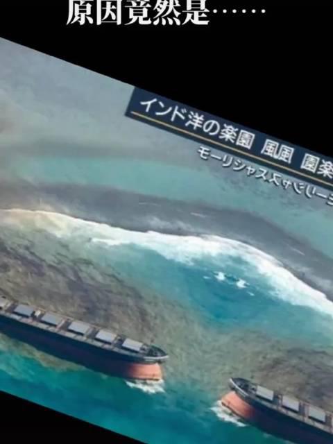 日本货轮在毛里求斯触礁漏油,原因竟然是为了连wiff...😓 ??