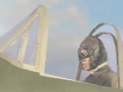 约翰的飞机被小鬼子击中,他的飞机失控,约翰被迫跳伞