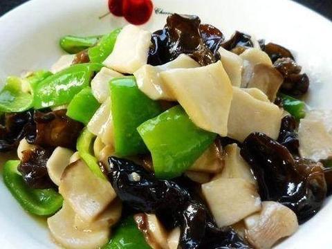 严选美食:呛炒黄豆芽,百花豆腐,酸菜粉儿,杏鲍菇炒青椒