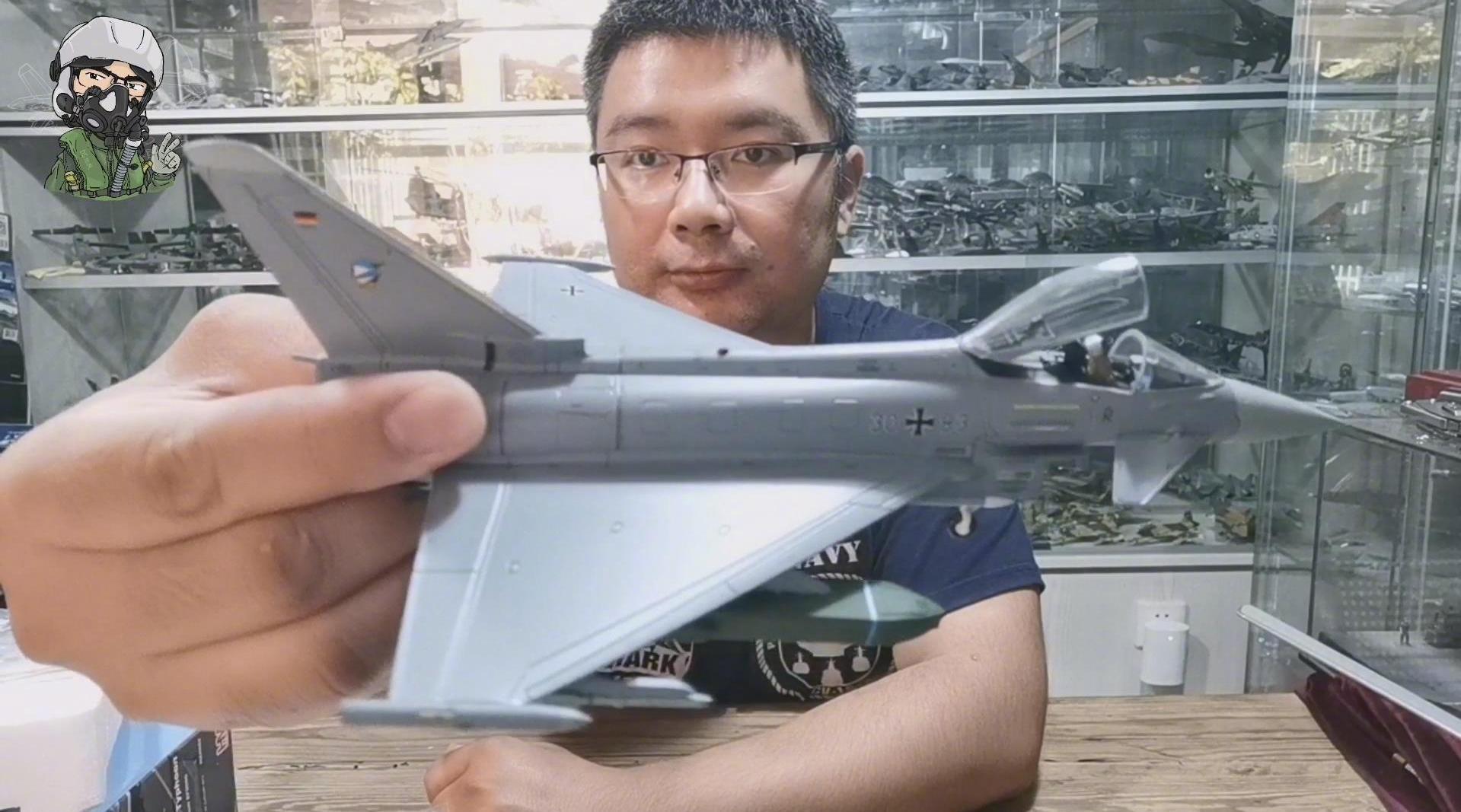 """北风军模鉴赏之欧洲EF-2000""""台风""""战斗机"""