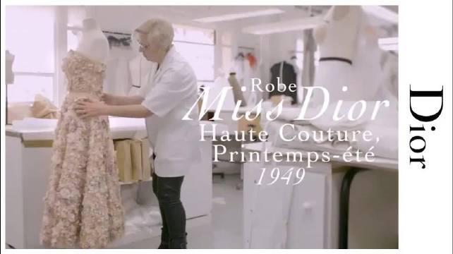 Le Petit Théâtre Dior 迪奥小姐迷你礼服制作工艺,纯手工制作……