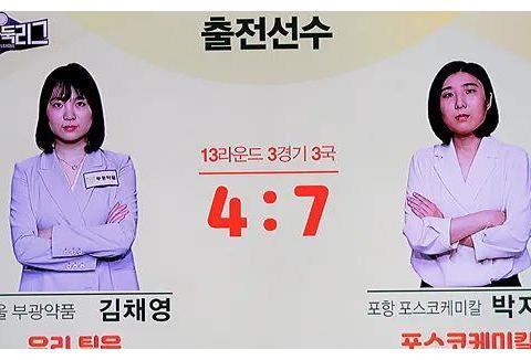 韩女联朴志恩再度躺赢 金彩瑛孤掌难鸣跌至倒数第二