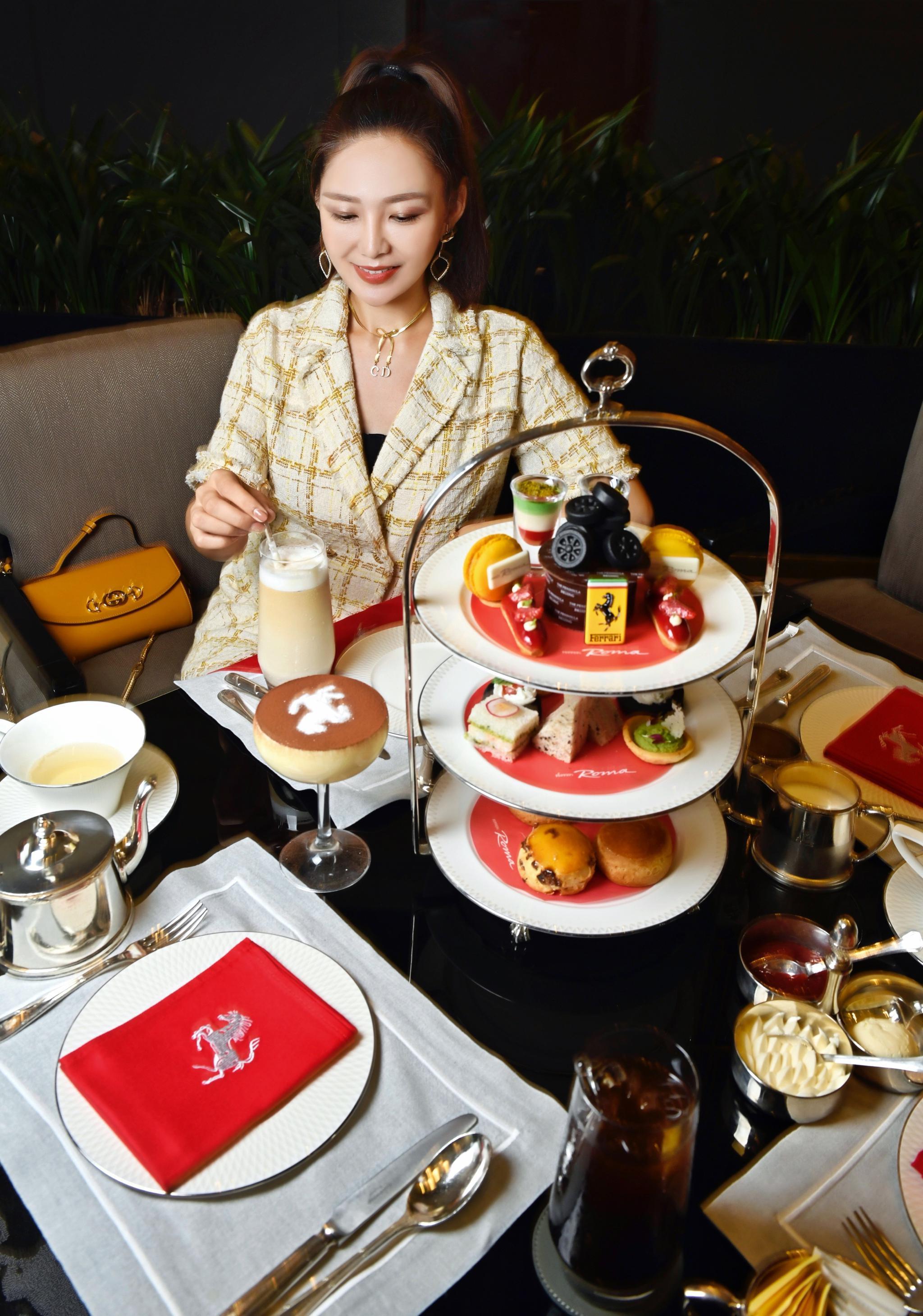 Ferrari 联手ThePeninsula推出的王府半岛法拉利罗马下午茶☕️