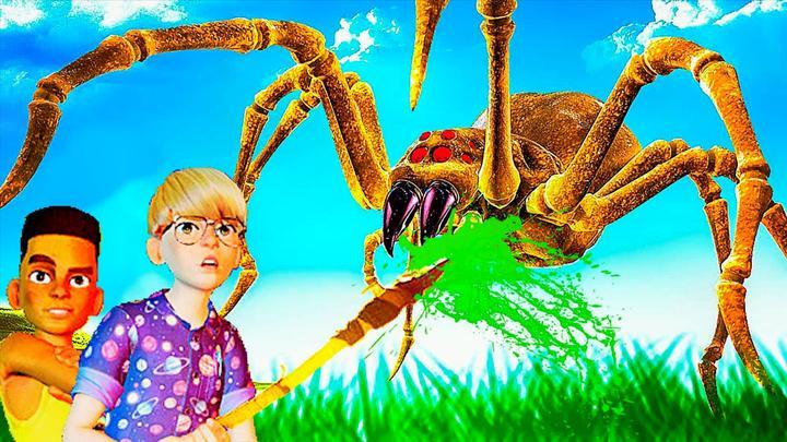 禁闭求生 我们被巨大蜘蛛袭击!蜘蛛长得太恶心啦! 屌德斯阿波兔