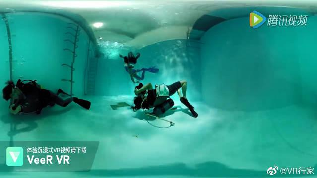 美女水下迷幻VR写真秀……