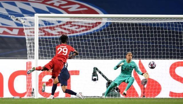 法国边锋金斯利-科曼在欧冠决赛打进唯一进球