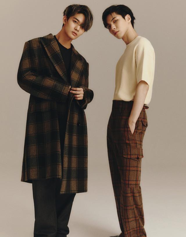 韩国男团组合CIX裴珍映和李炳坤(BX)合作美容生活杂志拍摄