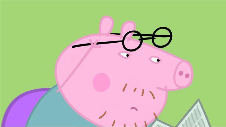 小猪佩奇:猪爸爸是个大近视眼,眼镜一摘,他就啥都看不清了