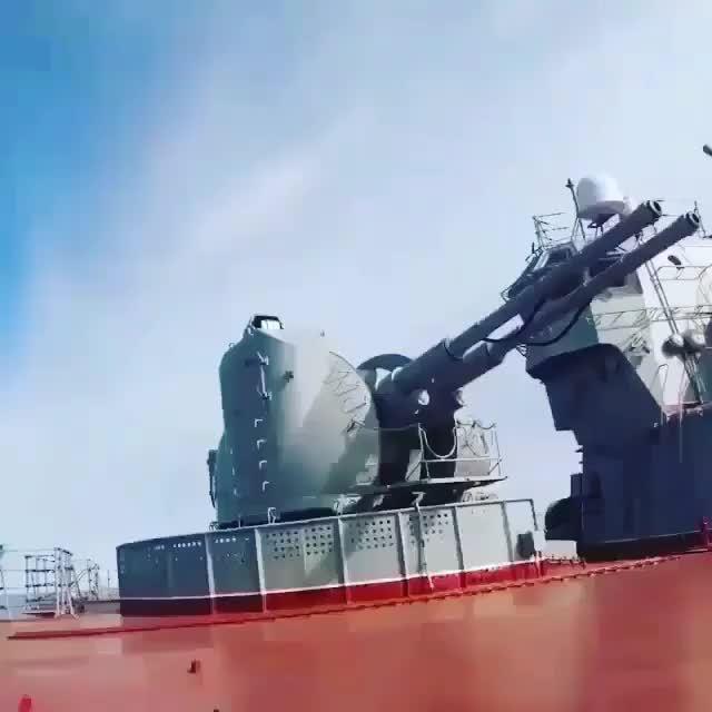 俄罗斯海军在巴伦支海的北海舰队的海军训练视频