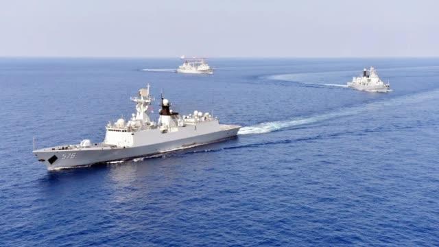 壮观!解放军北海舰队全军出击 ,黄海海域实战演习画面曝光!