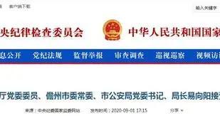 海南省儋州市公安局党委书记、局长易向阳接受审查调查