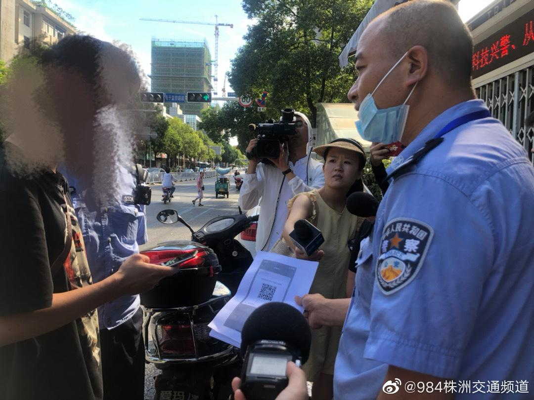 """醴陵交警发起""""一盔一带""""安静卫士行动"""
