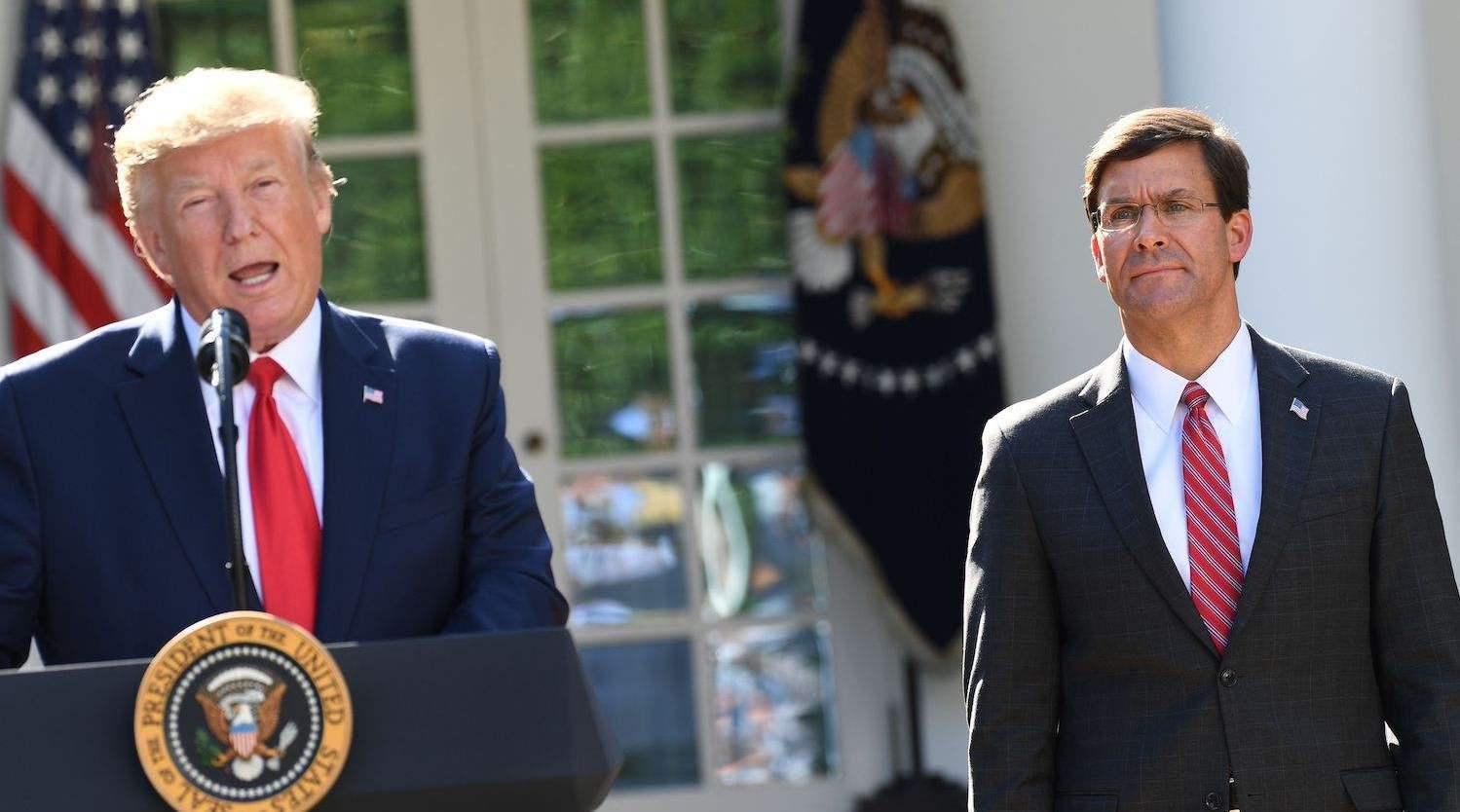 """美国防长埃斯珀""""朝不保夕"""",特朗普大选在即,高层人物将大换血"""