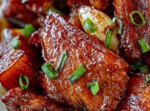 醋焖肉,白灼秋葵,洋菇炒芦笋,山药炒羊肉的做法