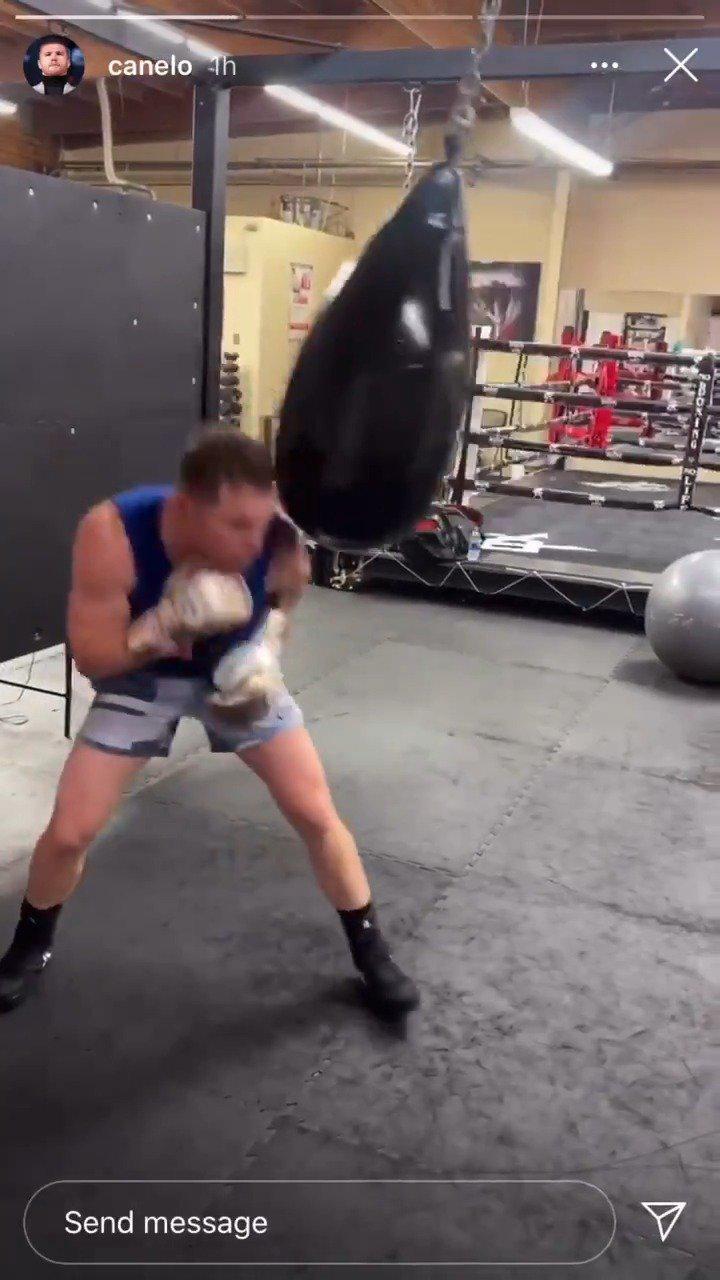 墨西哥拳击巨星卡内洛·阿尔瓦雷斯最新训练视频……