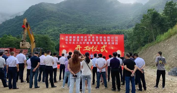 安康:岚皋县三元仔猪繁育基地加班加点推进项目建设